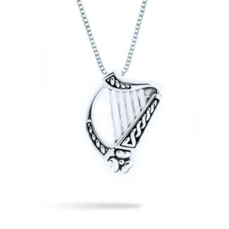 large_double_sided_irish_harp_with_shamrock