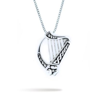large_double_sided_irish_harp_with_shamrock